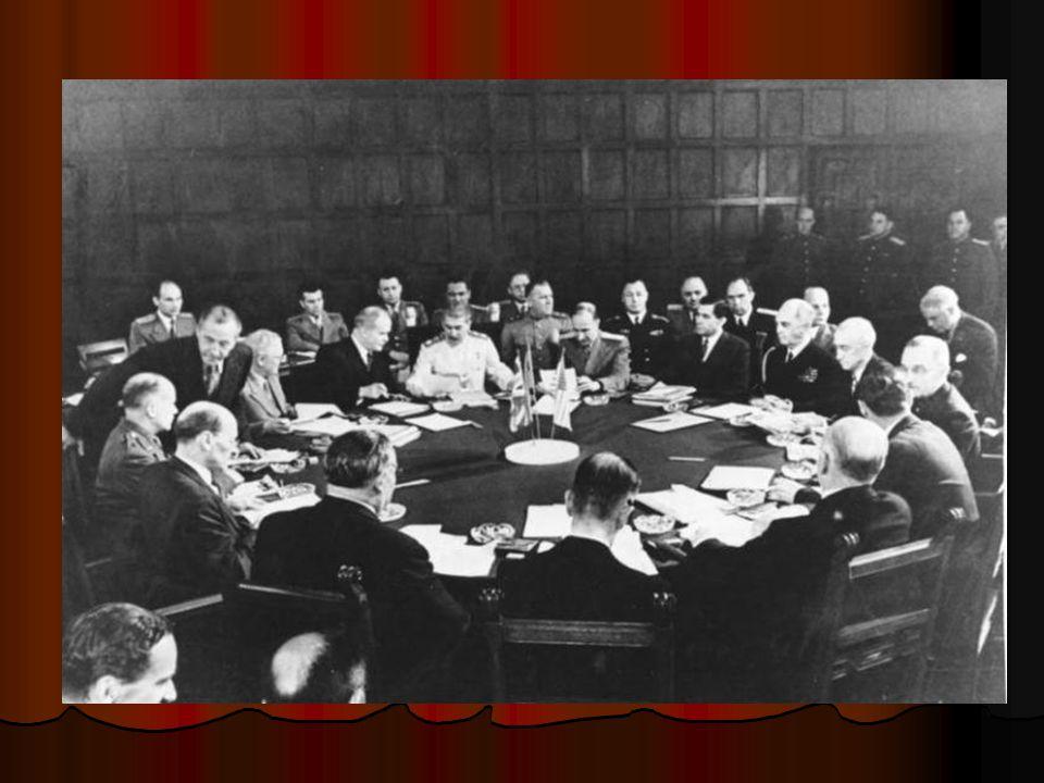 Postupimská dohoda Veškeré německé anexe po roce 1937 budou vráceny zpět Veškeré německé anexe po roce 1937 budou vráceny zpětanexe1937anexe1937 Některým státům byly stanoveny nové státní hranice, přičemž např.
