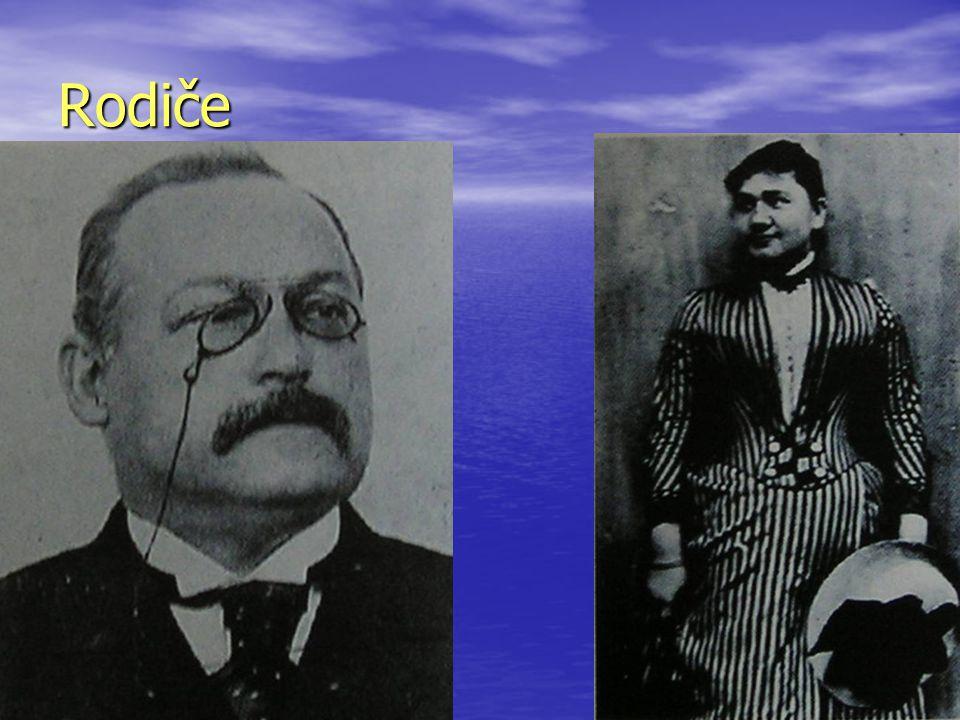 Rodiče Otec Hermann pro omezené prostředky nemohl pokračovat ve studiu matematiky Otec Hermann pro omezené prostředky nemohl pokračovat ve studiu matematiky Matka Paulina pocházela z bohaté obchodnické rodiny.
