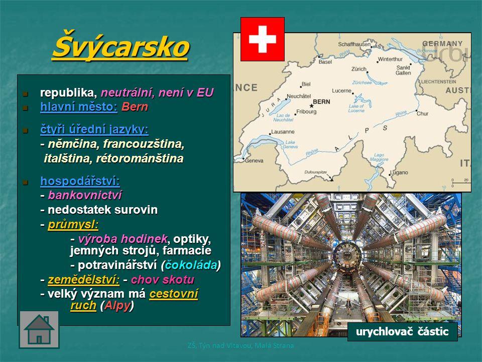Švýcarsko republika, neutrální, není v EU republika, neutrální, není v EU hlavní město: Bern hlavní město: Bern čtyři úřední jazyky: čtyři úřední jazy