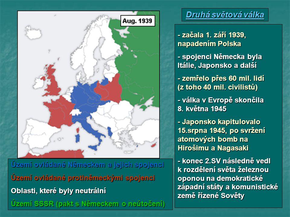 Území ovládané Německem a jejich spojenci Území ovládané protiněmeckými spojenci Oblasti, které byly neutrální Území SSSR (pakt s Německem o neútočení