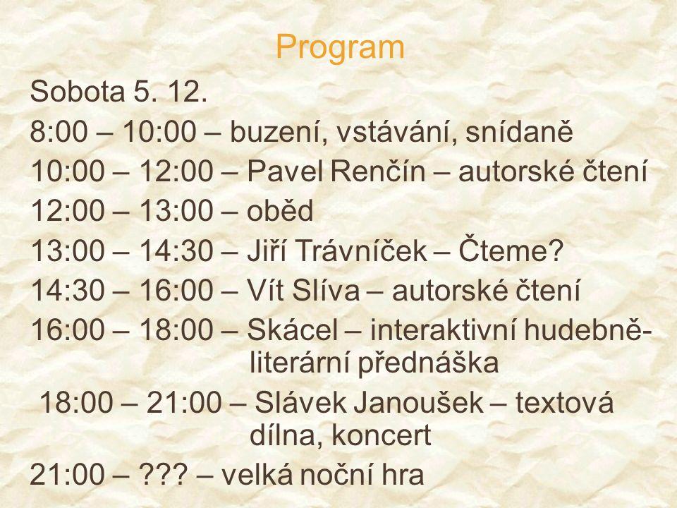 Program Neděle 6.12.