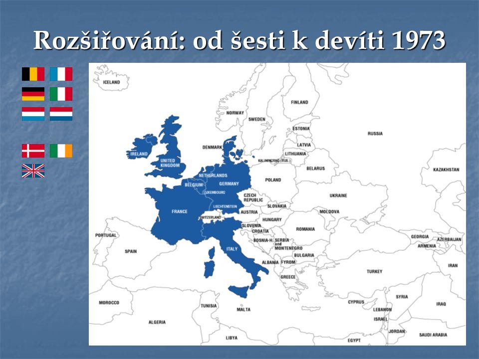 Rozšiřování: od šesti k devíti 1973