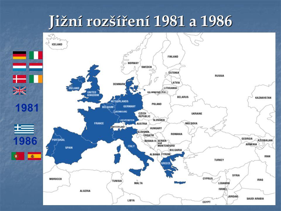 Jižní rozšíření 1981 a 1986 1981 1986