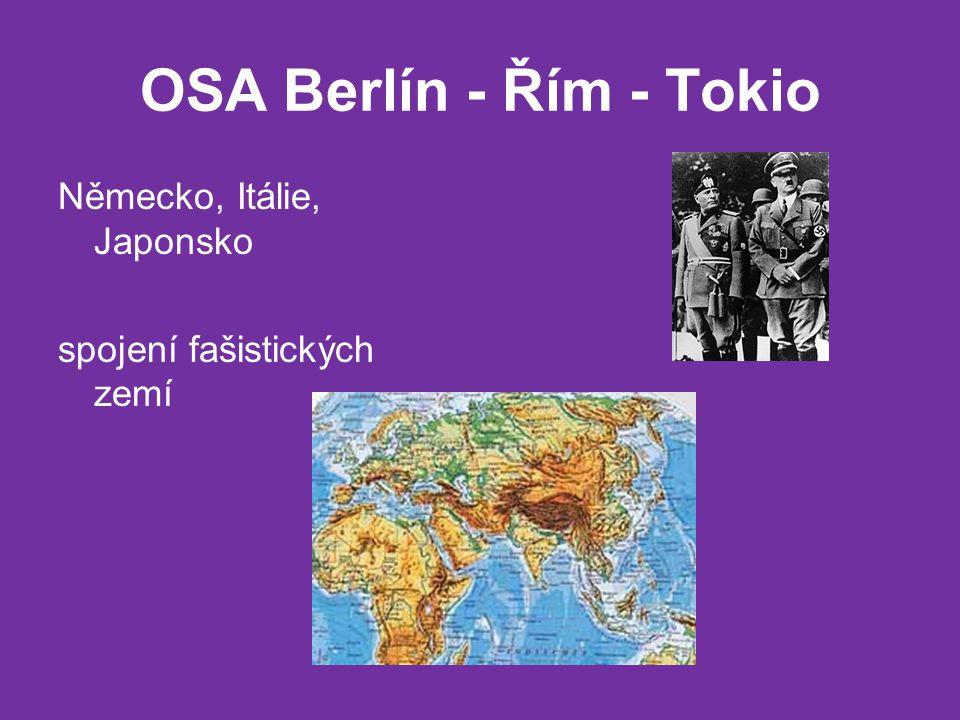 OSA Berlín - Řím - Tokio Německo, Itálie, Japonsko spojení fašistických zemí