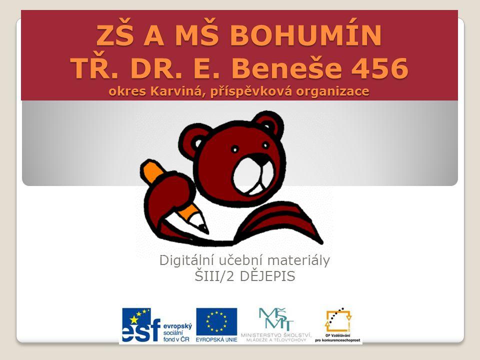 Návštěva sudet ZŠ a MŠ tř. Dr. E. Beneše 456 Bohumín