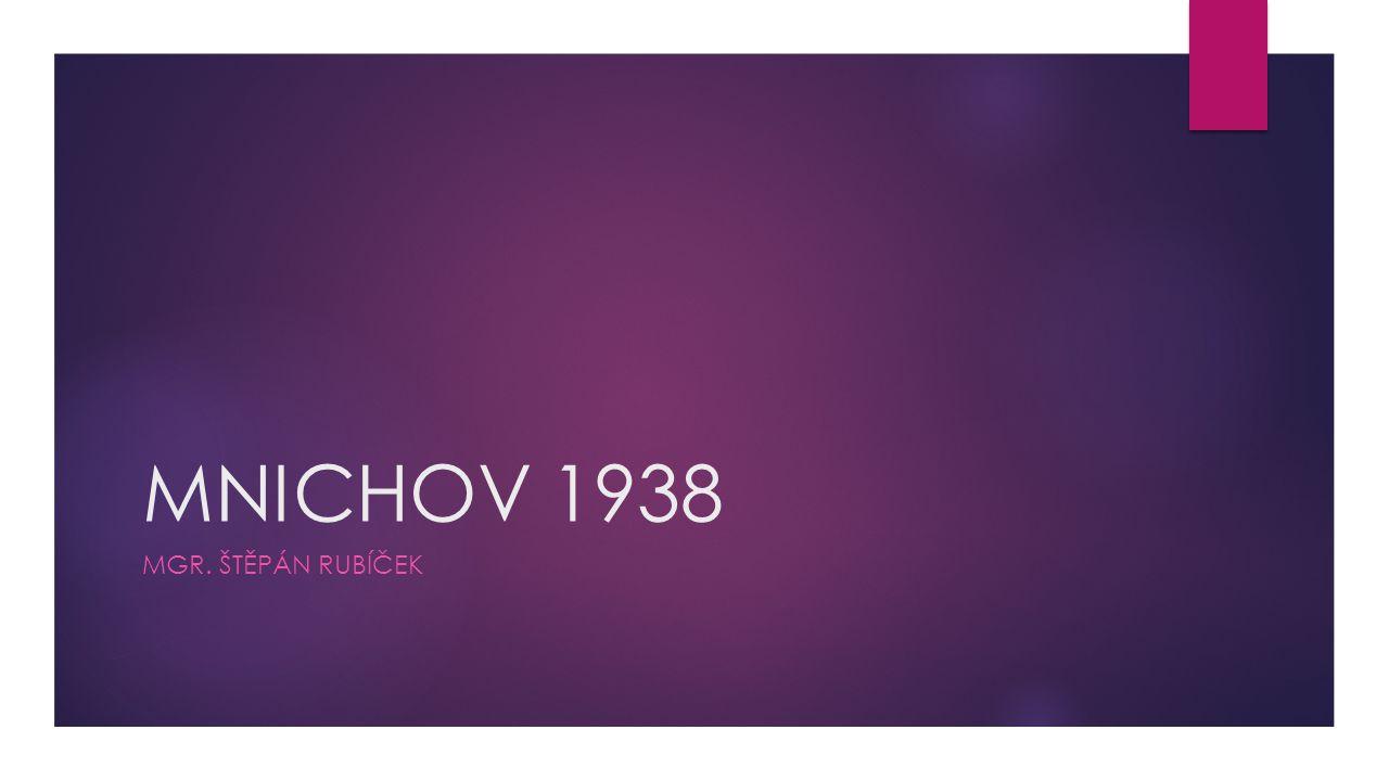 MNICHOV 1938 MGR. ŠTĚPÁN RUBÍČEK