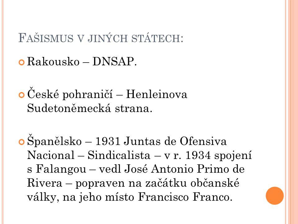 F AŠISMUS V JINÝCH STÁTECH : Maďarsko – Strana Šípových křížů.