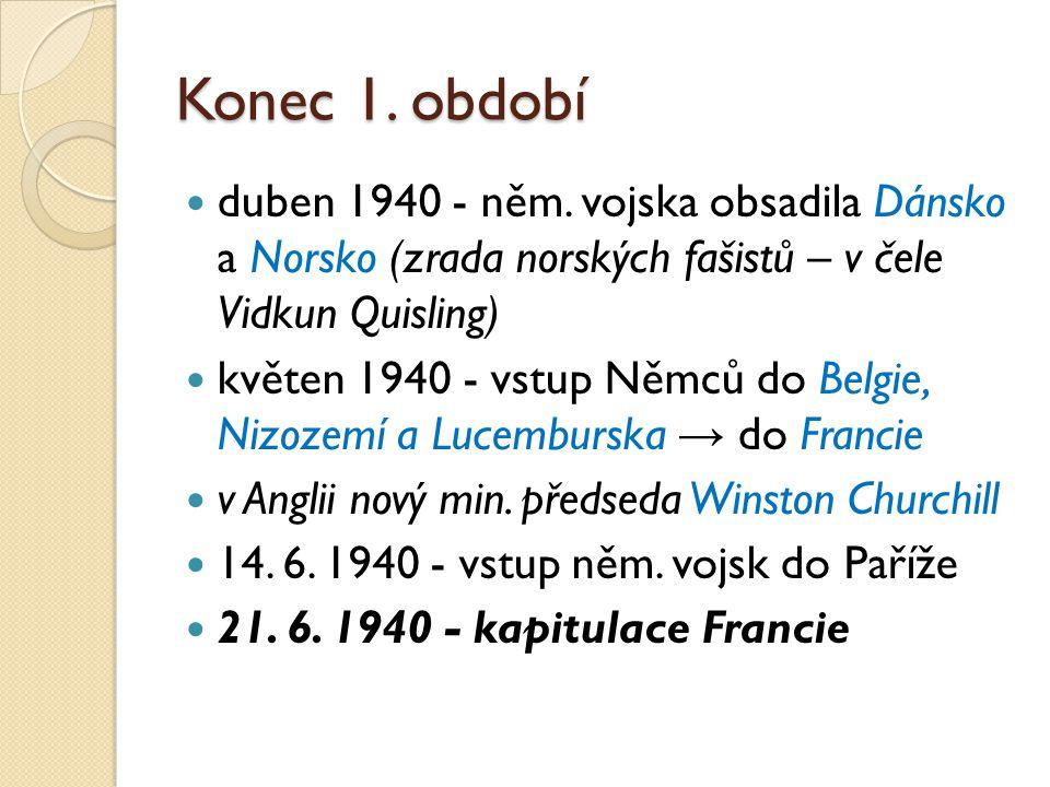 Konec 1.období duben 1940 - něm.