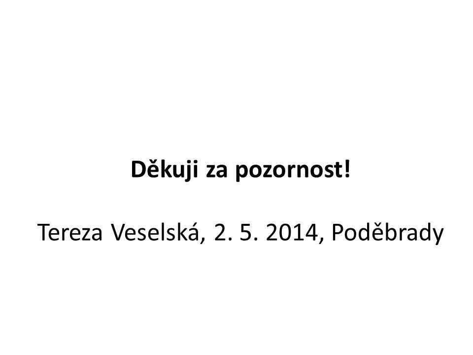 Děkuji za pozornost! Tereza Veselská, 2. 5. 2014, Poděbrady