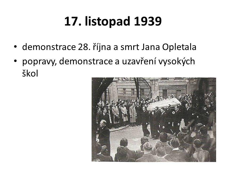 17.listopad 1939 demonstrace 28.