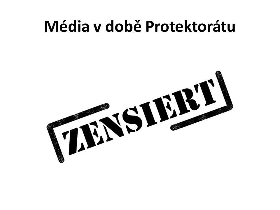 Média v době Protektorátu