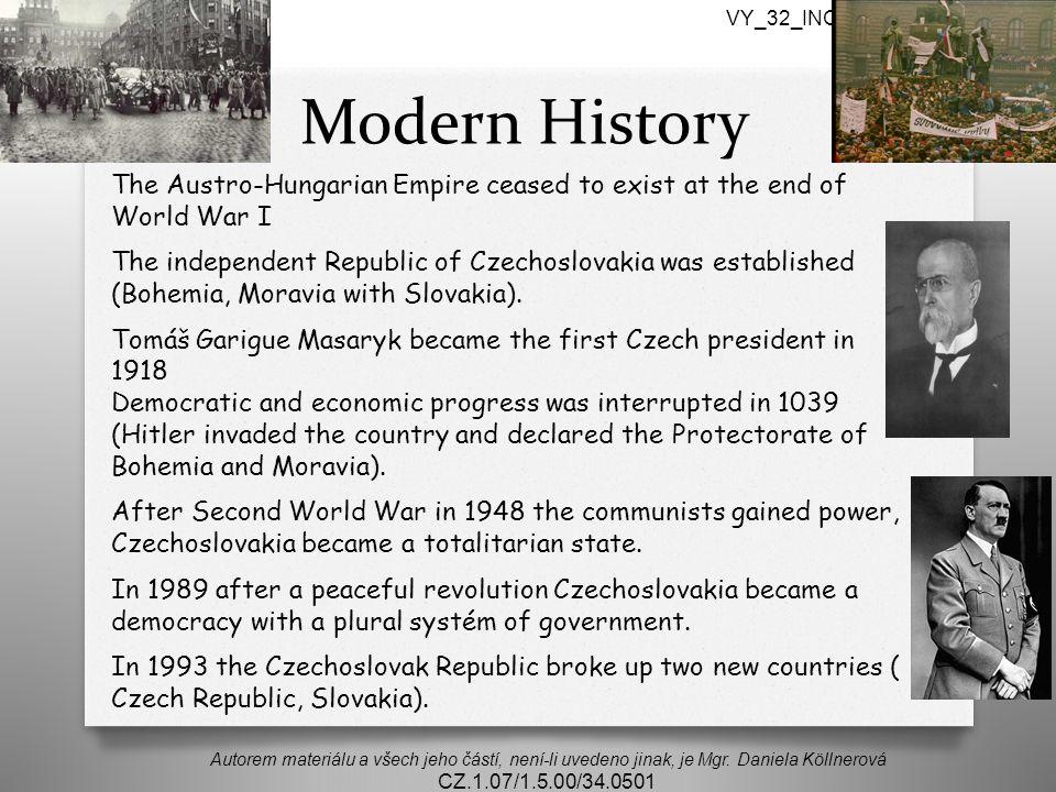 Modern History Autorem materiálu a všech jeho částí, není-li uvedeno jinak, je Mgr.