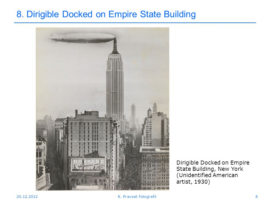 Dirigible Docked on Empire State Building 8.