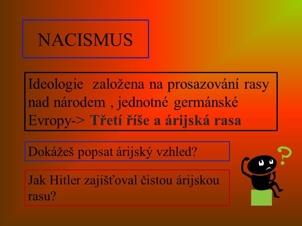 Fašismus v praxi ŽIDÉ holocaust Křišťálová noc Koncentrační tábory