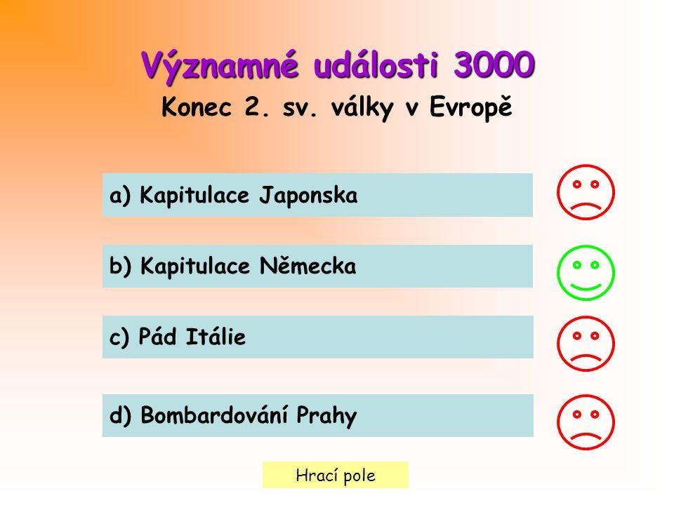 Hrací pole Významné události3000 Významné události 3000 Konec 2.