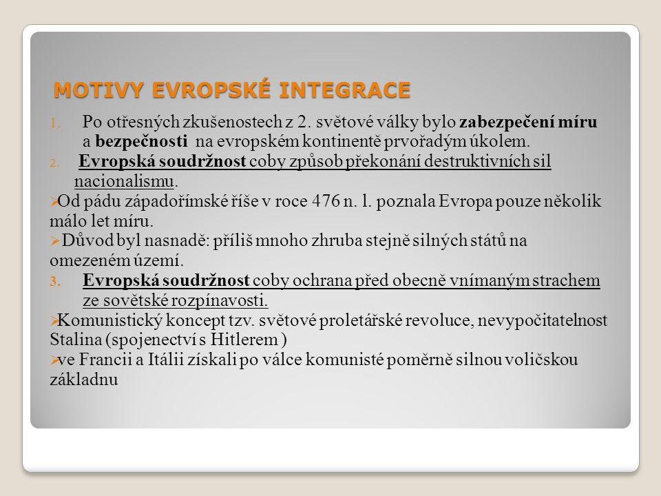 MOTIVY EVROPSKÉ INTEGRACE 4.