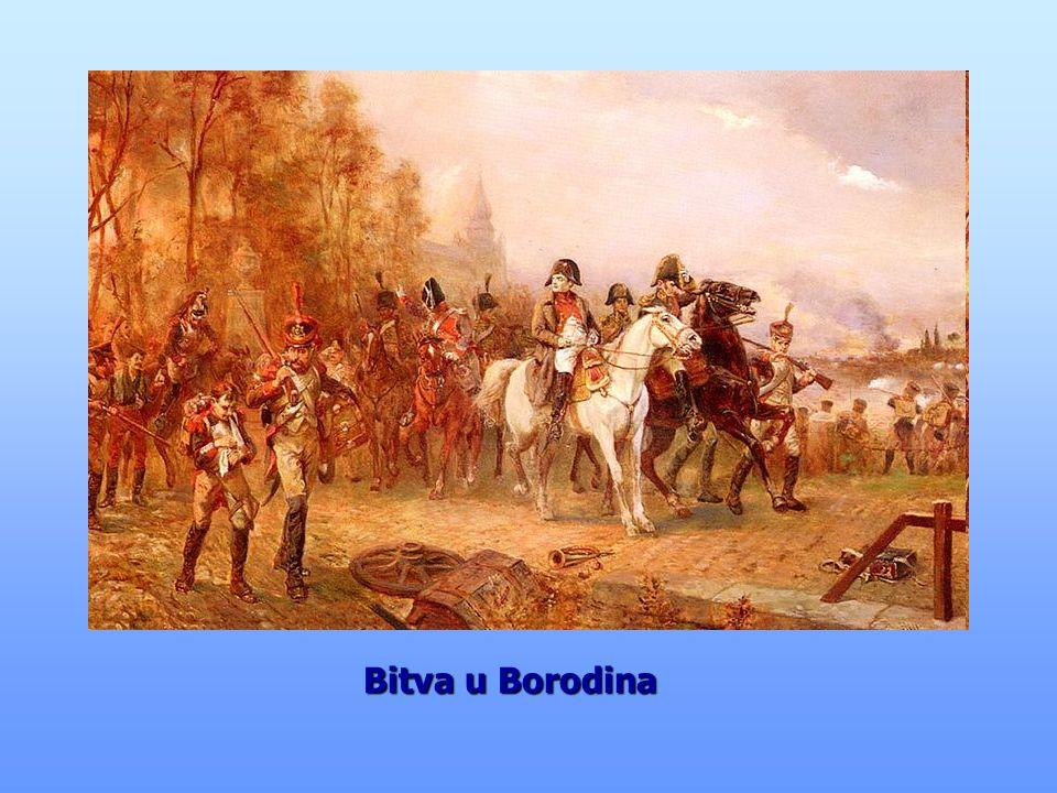 Napoleon překračuje Berezinu