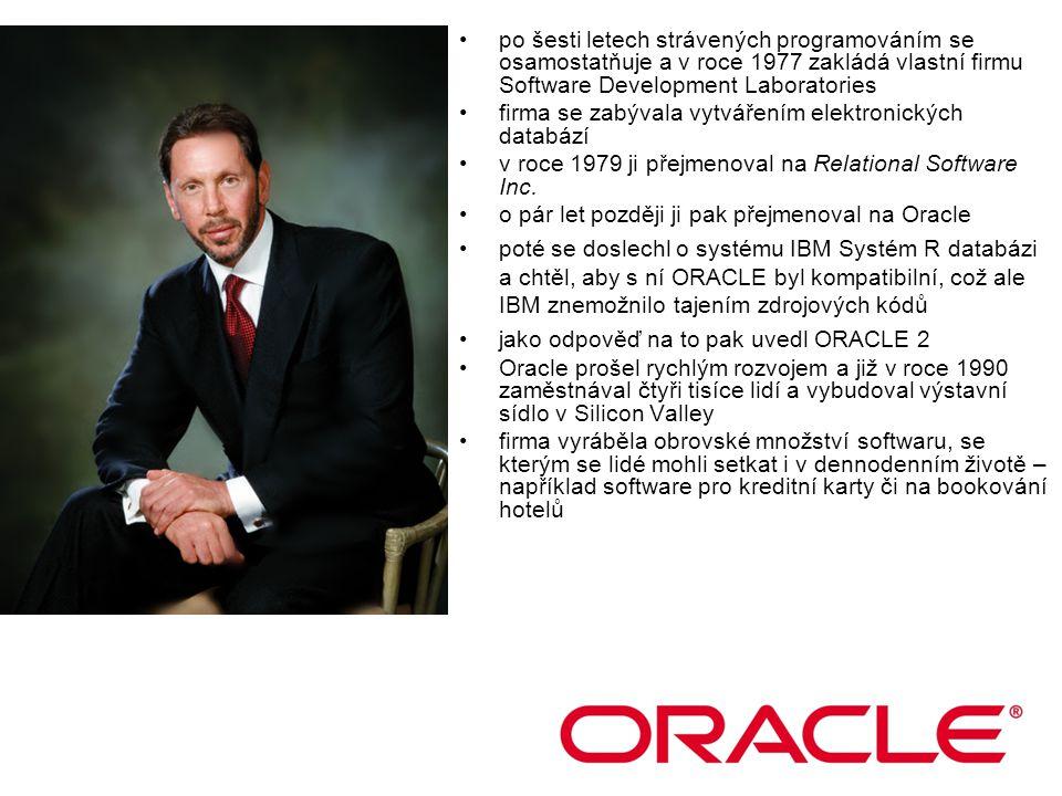 po šesti letech strávených programováním se osamostatňuje a v roce 1977 zakládá vlastní firmu Software Development Laboratories firma se zabývala vytvářením elektronických databází v roce 1979 ji přejmenoval na Relational Software Inc.