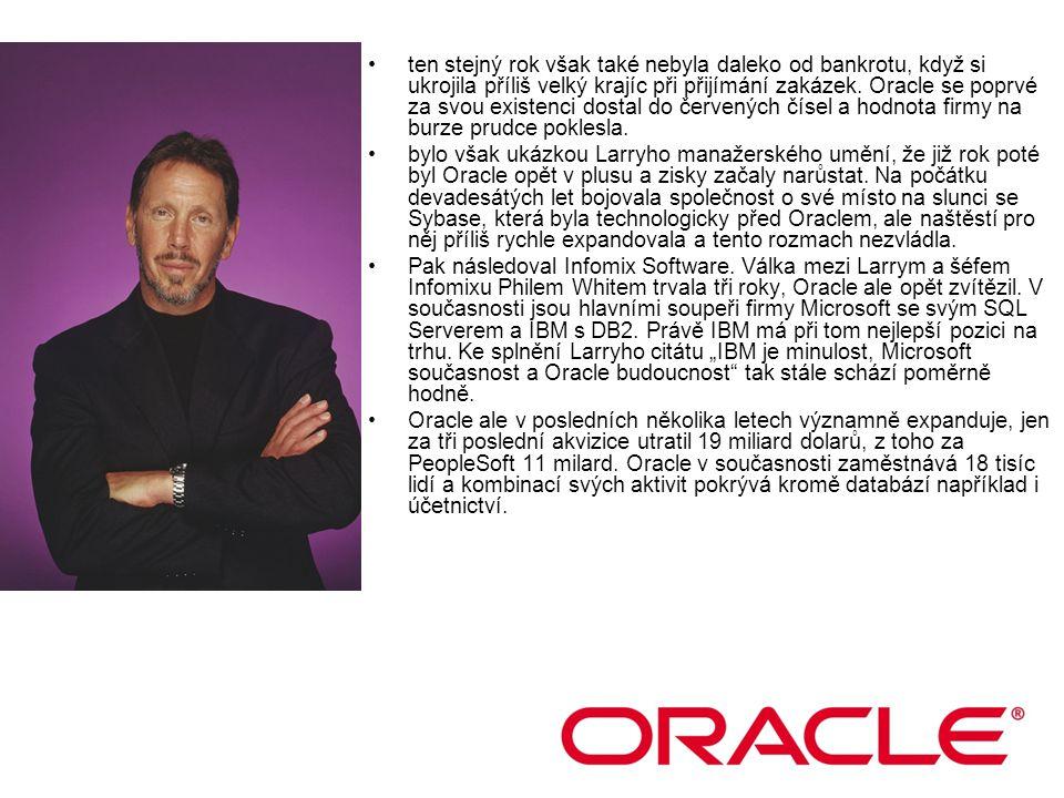 Oracle prošel rychlým rozvojem a již v roce 1990 zaměstnával čtyři tisíce lidí a vybudoval výstavní sídlo v Silicon Valley.