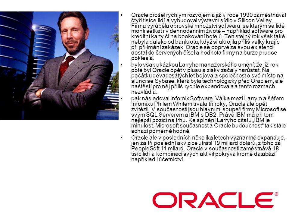 Oracle prošel rychlým rozvojem a již v roce 1990 zaměstnával čtyři tisíce lidí a vybudoval výstavní sídlo v Silicon Valley. Firma vyráběla obrovské mn