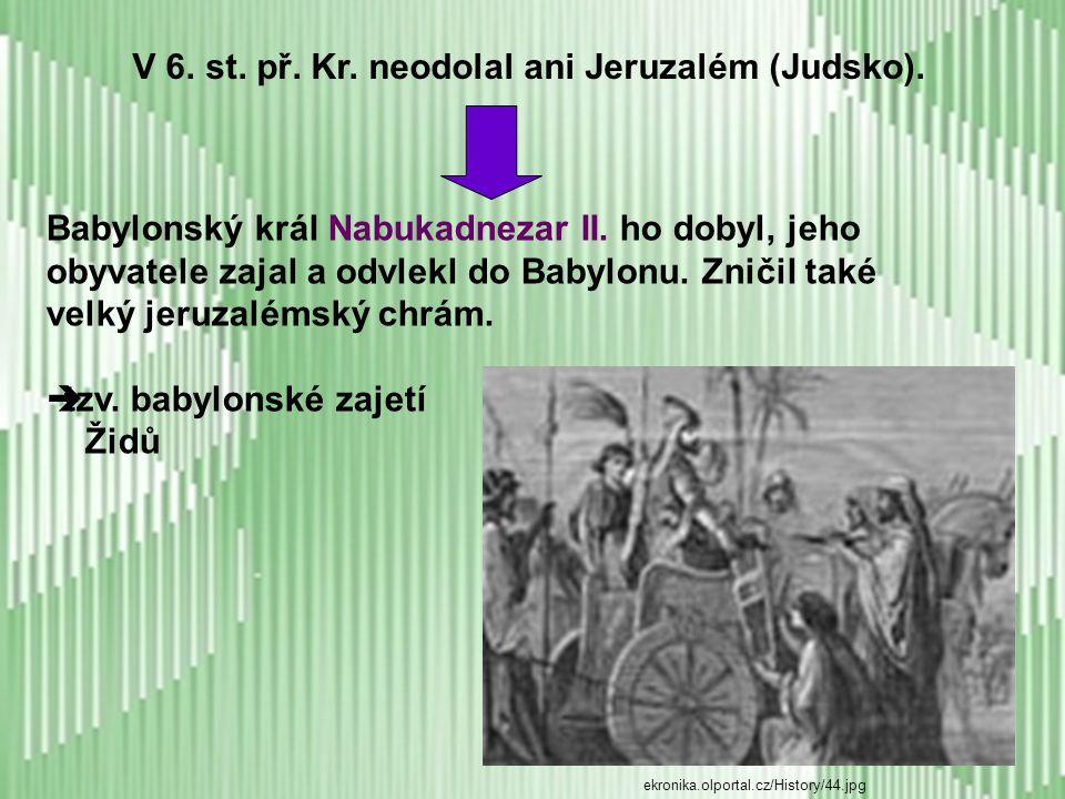 Po Šalamounově smrti se židovské království rozpadlo na:  severní část – Izrael (HM – Samaří)  jižní část – Judsko (HM – Jeruzalém) - mezi oběma novými státy panovalo značné nepřátelství Toho v 8.
