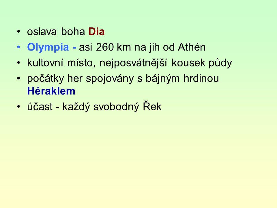 nejstarší seznam olympijských vítězů z r.776 př. n.
