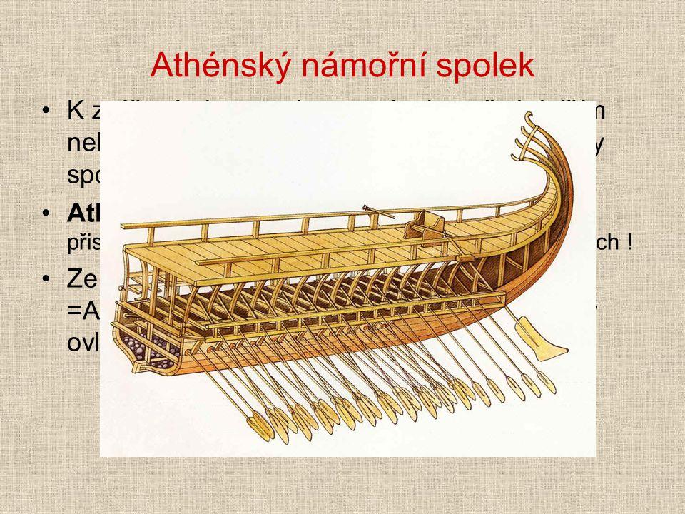 Athénský námořní spolek K zvýšení obranyschopnosti, zjm. před dalším nebezpečím ze strany Persie vytvořily Athény spojenectví s více než 100 menších s