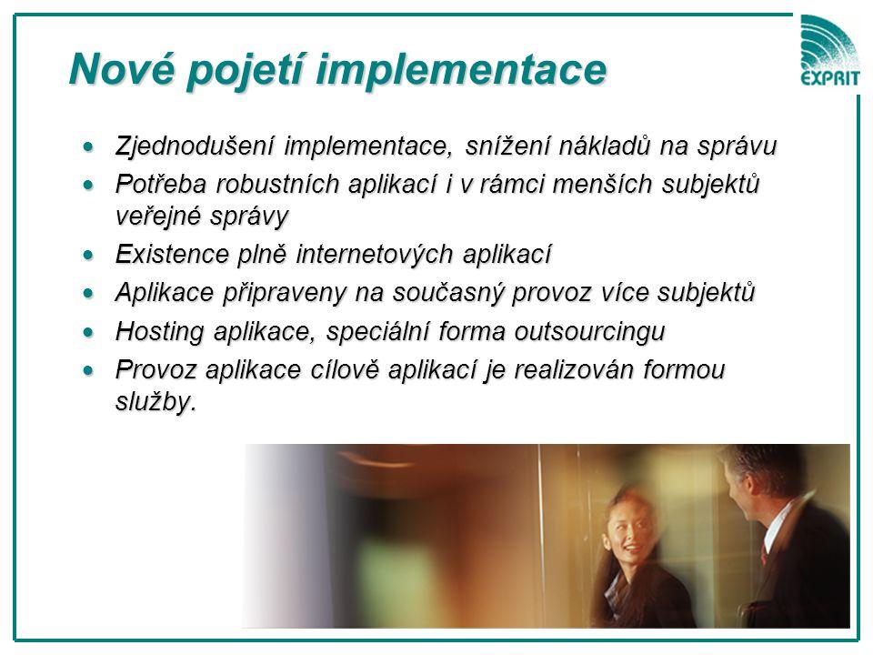  Zjednodušení implementace, snížení nákladů na správu  Potřeba robustních aplikací i v rámci menších subjektů veřejné správy  Existence plně intern