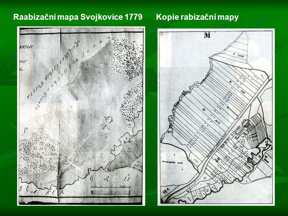 Raabizační mapa Svojkovice 1779Kopie rabizační mapy