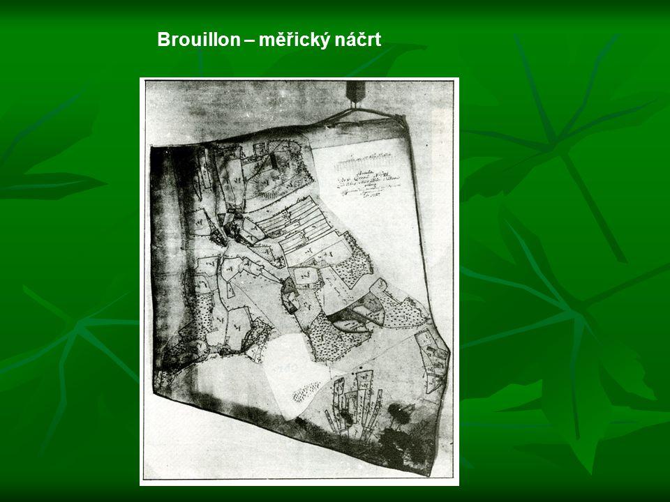 Brouillon – měřický náčrt