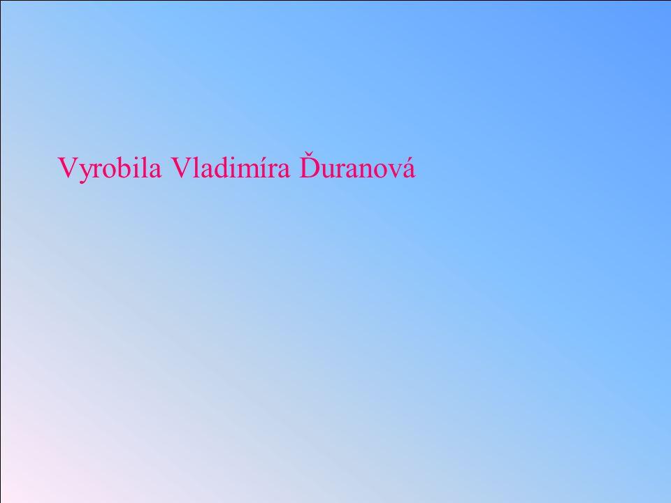 Vyrobila Vladimíra Ďuranová