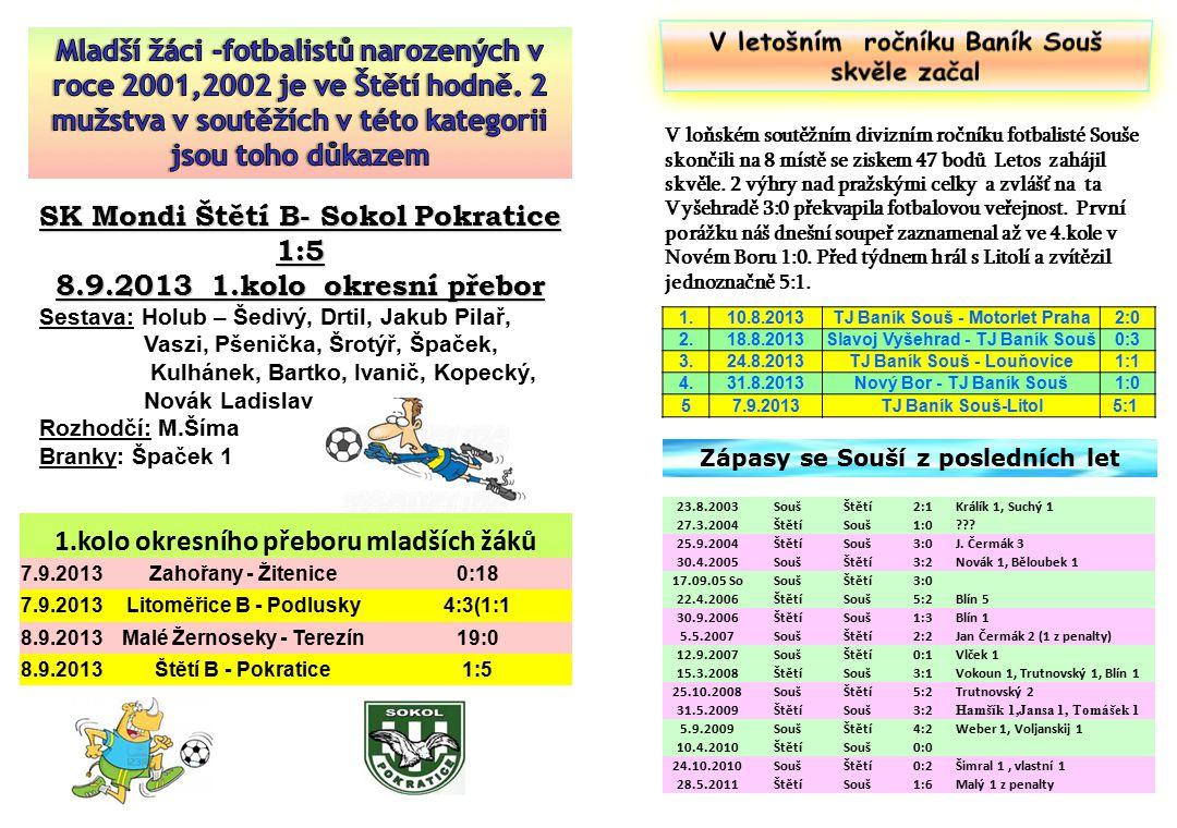 V loňském soutěžním divizním ročníku fotbalisté Souše skončili na 8 místě se ziskem 47 bodů Letos zahájil skvěle.