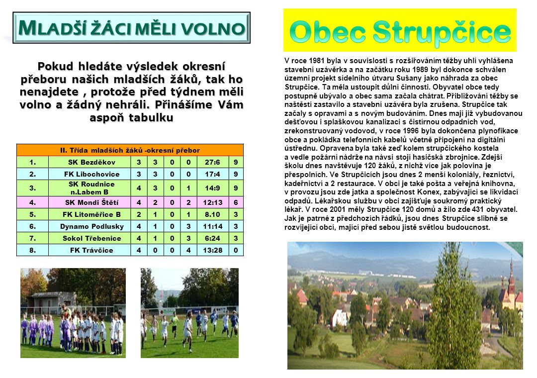 Viktorie Kleneč – SK Mondi Štětí B 0:8(0:8) 6.kol 7.hrané 29.9.2012 Do vesničky nedaleko Roudnice n.L.