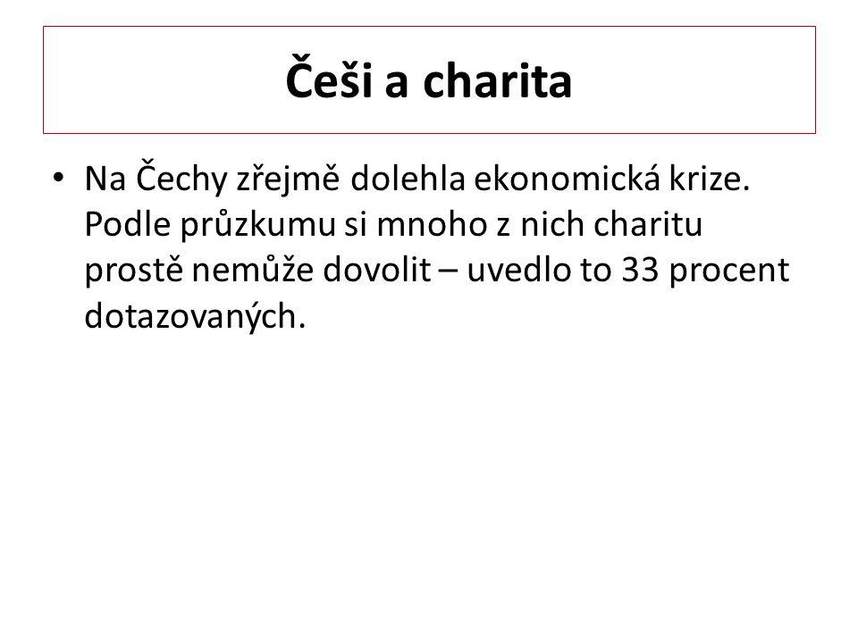 Češi a charita Na Čechy zřejmě dolehla ekonomická krize.