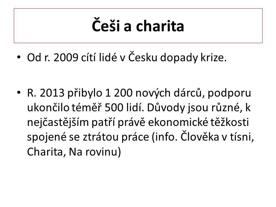 Češi a charita Od r. 2009 cítí lidé v Česku dopady krize.