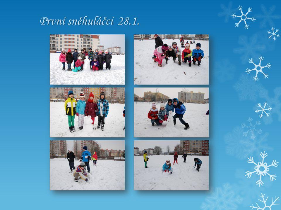 První sněhuláčci 28.1.