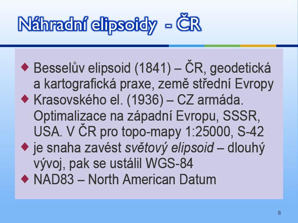 19  S-JTSK mělo zahrnout ČSR + Zakarpatskou Ukrajinu.