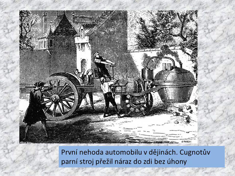 První nehoda automobilu v dějinách. Cugnotův parní stroj přežil náraz do zdi bez úhony