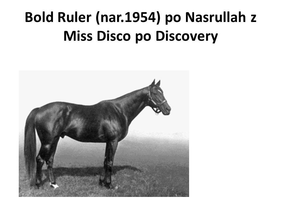 Bold Ruler (nar.1954) po Nasrullah z Miss Disco po Discovery