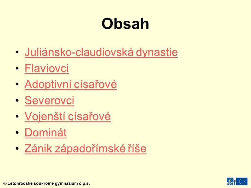 © Letohradské soukromé gymnázium o.p.s.Období CÍSAŘSTVÍ 1.