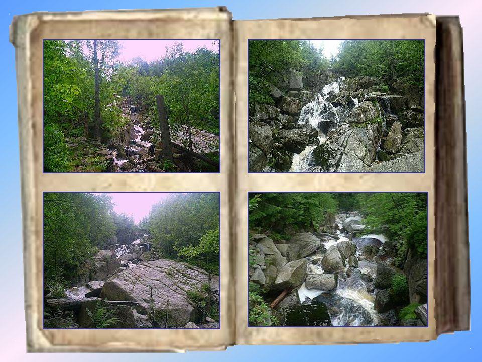 Velký Štolpich Vodopád Velký Štolpich se nachází na Sloupském potoce na severním svahu Jizerských hor.
