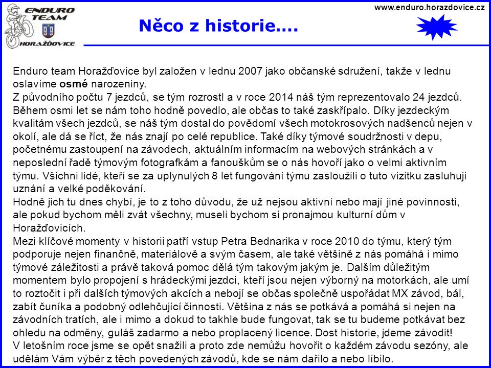 www.enduro.horazdovice.cz 1.8.