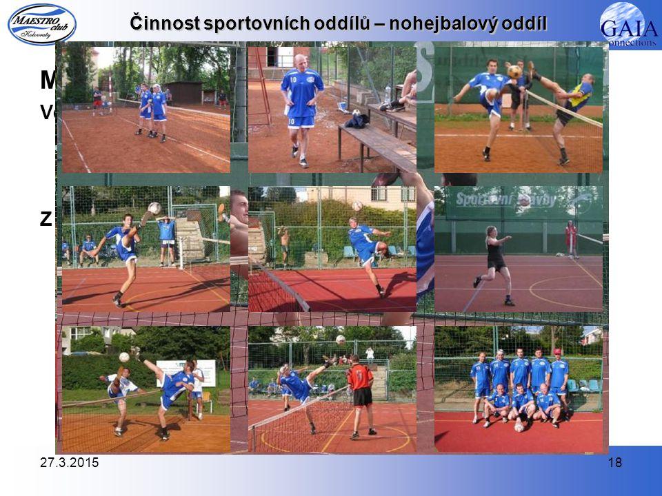 MPD 2009 Ve druhé sezóně, ve které jsme byli zařazeni do 4. třídy pražského přeboru, náš nohejbalový tým vybojoval výborné 2. místo a postup do vyšší