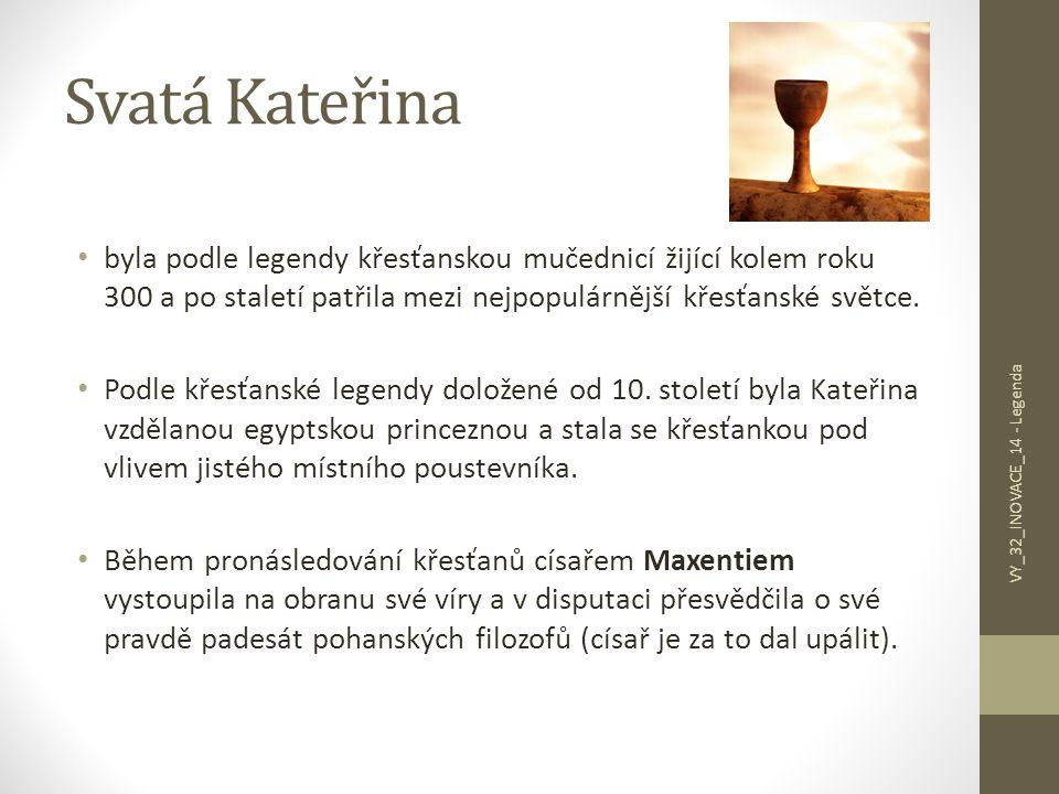 Svatá Kateřina Maxentius – fascinovaný její osobností – jí nabídl místo po svém boku, ona však odmítla.