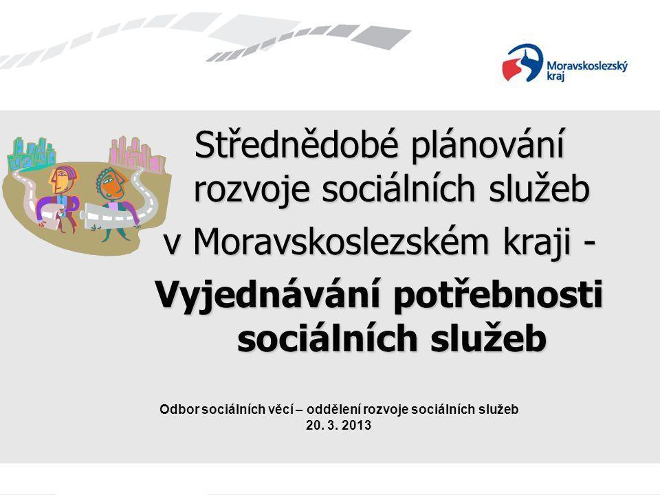 Střednědobé plánování rozvoje sociálních služeb v Moravskoslezském kraji - Vyjednávání potřebnosti sociálních služeb Odbor sociálních věcí – oddělení