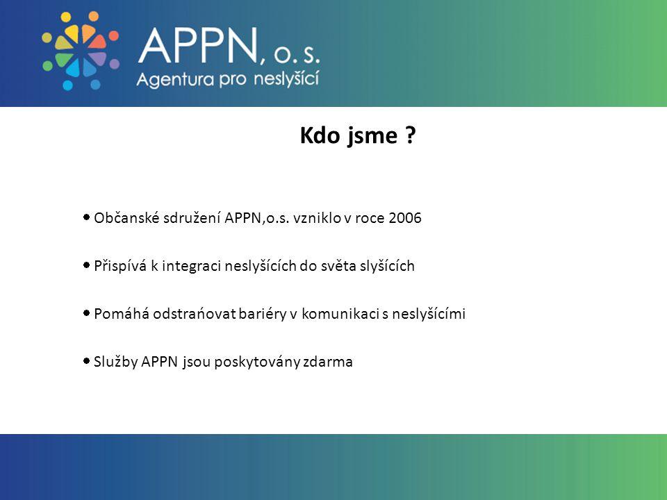 Kontakt: Mgr.Renata Dohnalová koordinator.projektu@appn.cz APPN, o.s.