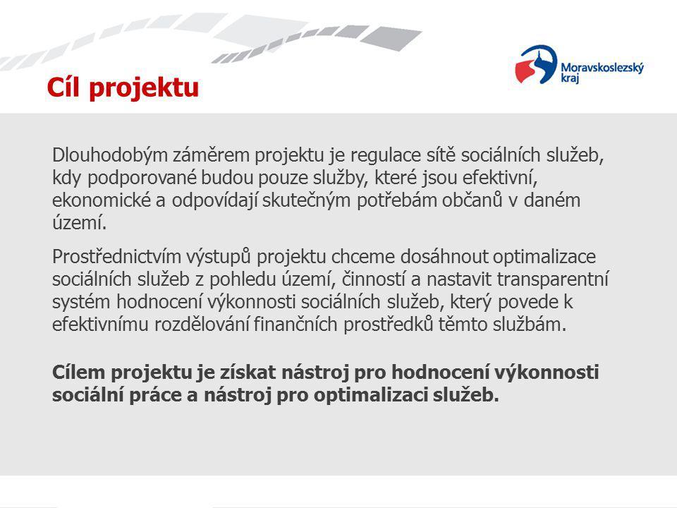 Cíl projektu Dlouhodobým záměrem projektu je regulace sítě sociálních služeb, kdy podporované budou pouze služby, které jsou efektivní, ekonomické a o
