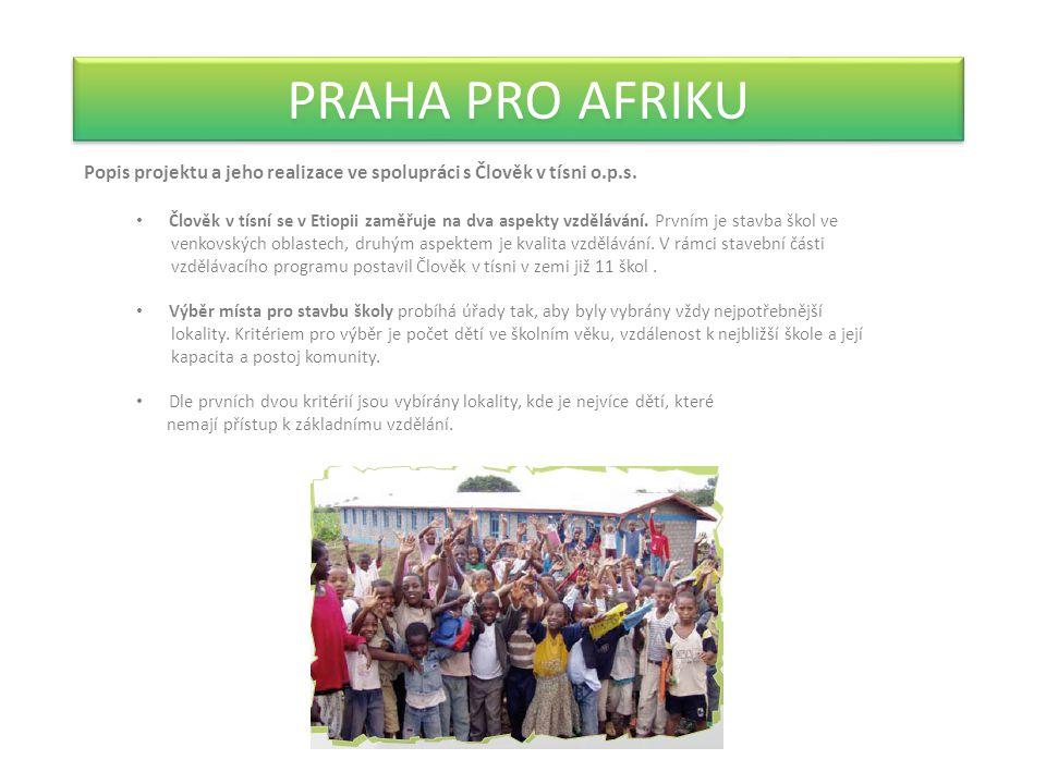 PRAHA PRO AFRIKU Popis projektu a jeho realizace ve spolupráci s Člověk v tísni o.p.s.
