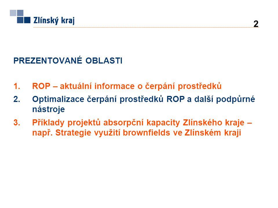 Počet projektůVýše dotace z ROP 1.1 Regionální dopravní infrastruktura21718,52 mil.