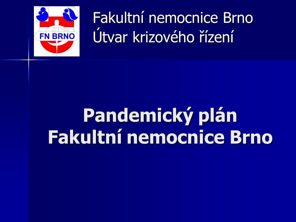 Pandemický plán Fakultní nemocnice Brno Fakultní nemocnice Brno Útvar krizového řízení